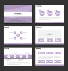 Abstract purple presentation templates infographic vector