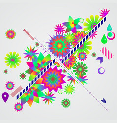 Abstract background with different floral design vector