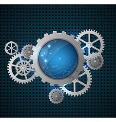Abstract metallic industrial background vector image
