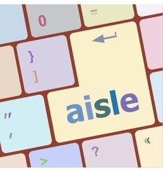Aisle words concept with key on keyboard vector