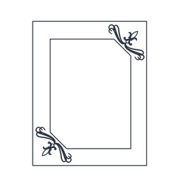 Board swirl decoration ornament blank image vector