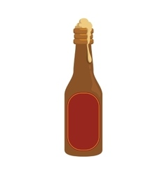 Bottle beer drink beverage alcohol icon vector