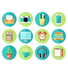 Business or education work flow items vector