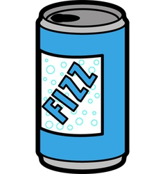Can of soda vector image vector image