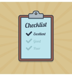 Checklist in flat style vector image