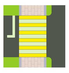 Crosswalk icon cartoon style vector