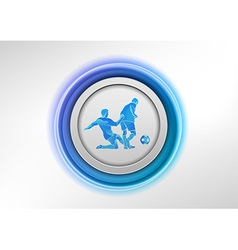 football circle blue vector image vector image
