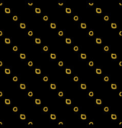 Geometric black and gold seamless pattern vector