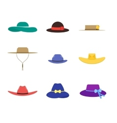 Hats set fashion for men and women vector