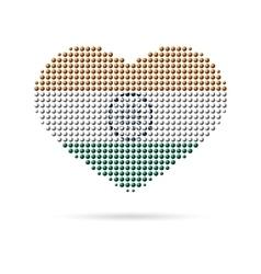 I love india creative heart flag vector