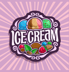 Logo for ice cream vector