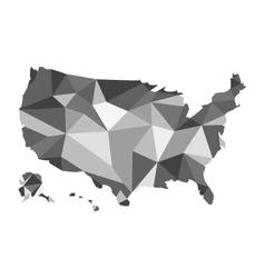 Map of usa design polygon vector