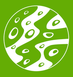 moon icon green vector image vector image