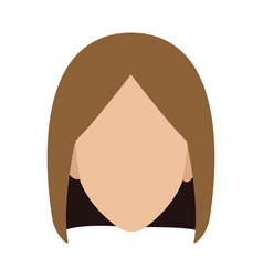 Profile girl young people character image vector