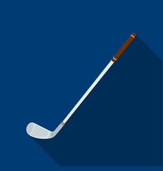Putter for golfgolf club single icon in flat vector