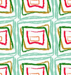 Rough brush green and red squares vector image