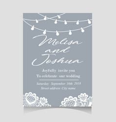 save the date invitation card with holiday vector image vector image