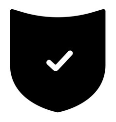 The black color shield icon vector