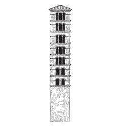 Tower of santa maria in cosmedin is a basilica vector