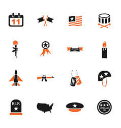 Veterans day icon set vector