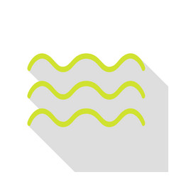 Waves sign pear icon with flat style vector