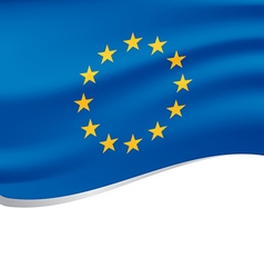 Waving flag of European isolated on white vector image vector image
