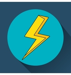 Yellow bolt icon vector