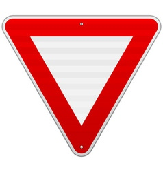 Yield Triangle Sign vector image