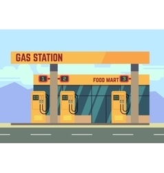 Gas filling station transport related service vector