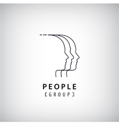 Human heads logo people creative group vector