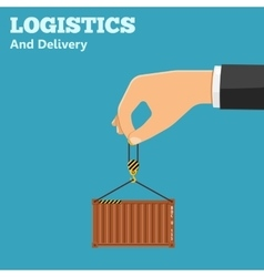 Logistics and delivery concept vector