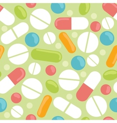 Pills seamless pattern background vector