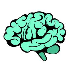 human brain icon icon cartoon vector image