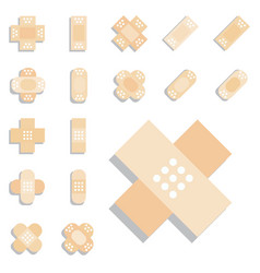 Plaster or band aid icon medical patch symbol vector