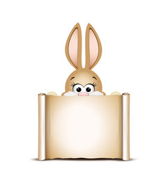 Easter card design template easter funny bunny vector