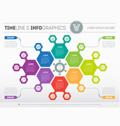 Web template of a circle chart diagram or vector