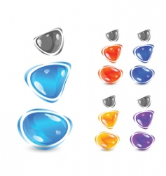 shiny gems vector image