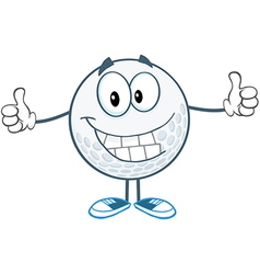 Golf ball man with legs vector