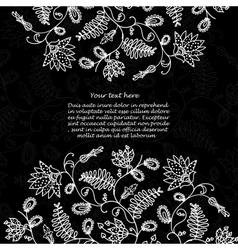 Chalkboard floral background vector