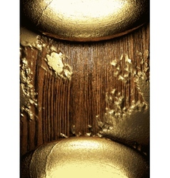 Gold and wood background vector