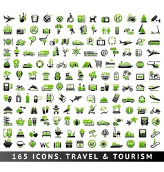 165 bicolor icons travel and tourism vector