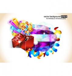 Birthday or christmas gift card vector