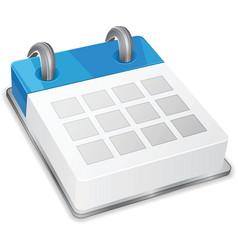 3d calendar icon vector image