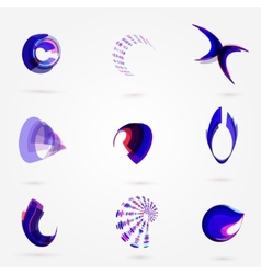 Abstract 3d business logo set for your vector