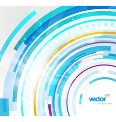 Futuristic circles vector