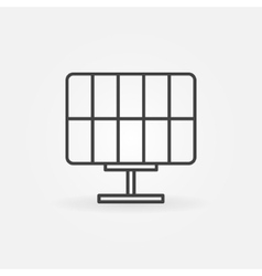 Solar panel icon or logo vector