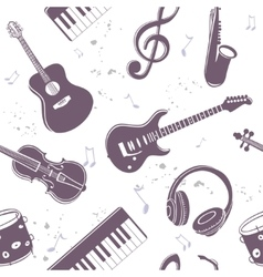 Seamless musical instruments vector