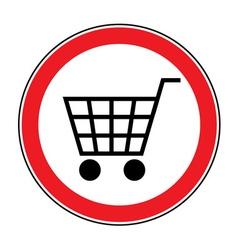 No cart sign 3 vector