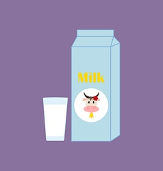 Milk carton package vector