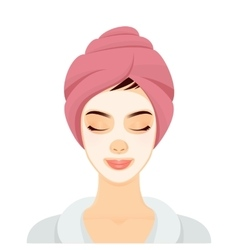 Woman in a spa vector